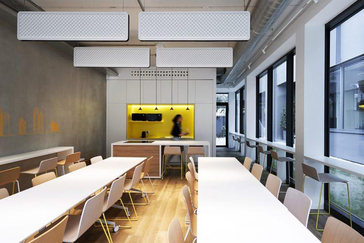 La canteen nella nuova sede di Progetto CMR
