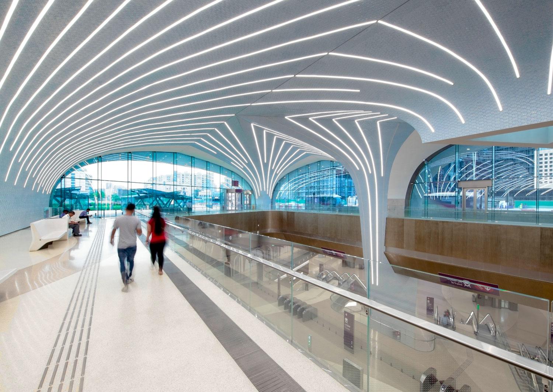 Lavorare In Qatar Architetto l'illuminazione innovativa della metropolitana di doha