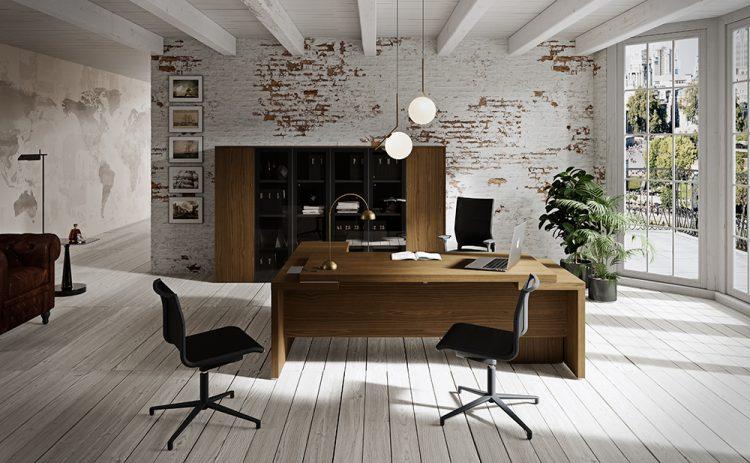 Un Home Office Presidenziale Officebit Arredi E Mobili Per Ufficio Sedute E Pareti Divisorie