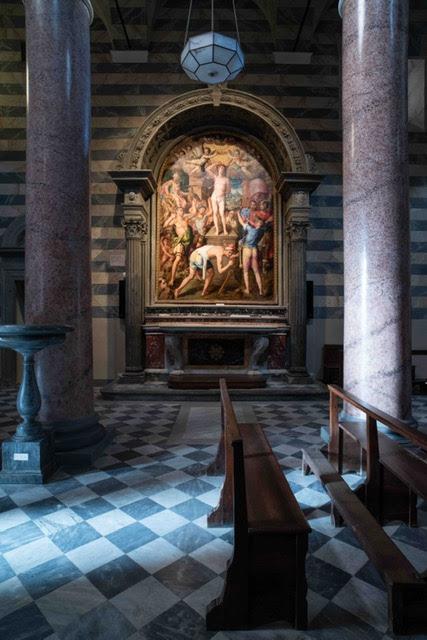 illuminazione della cattedrale